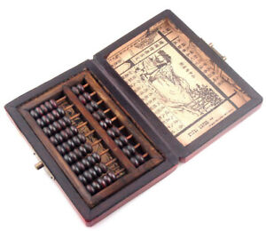 Boxes Chinese HAND dragon phoenix leather wood box with a abacus inside