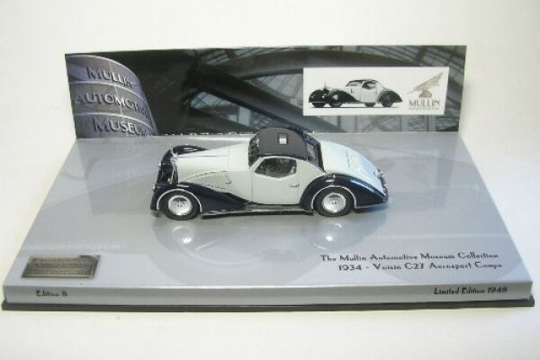 Voisin c27 AEROSPORT Coupe (grigio nero) 1934