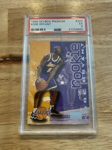 Kobe-Bryant-Rookie-PSA-5-Skybox-PREMIUM-203-Los-Angeles-Lakers-1996-INVEST-NOW