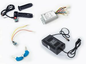 500W-24V-Reverse-controller-keylock-Charger-Throttle-w-switch-f-Brushed-DC-motor