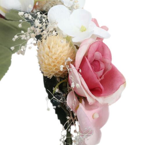 Women/'s Flower Crown Headband Head Wreath Wedding Garland Hair Band Accessories