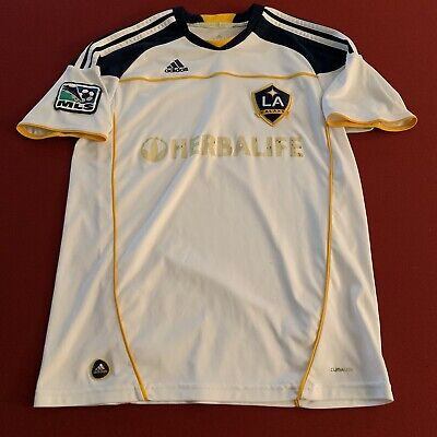 buy popular b2585 251e6 Adidas LA Galaxy Jersey Shirt Climalite Herbalife MLS Team Patch Fifa  Soccer | eBay