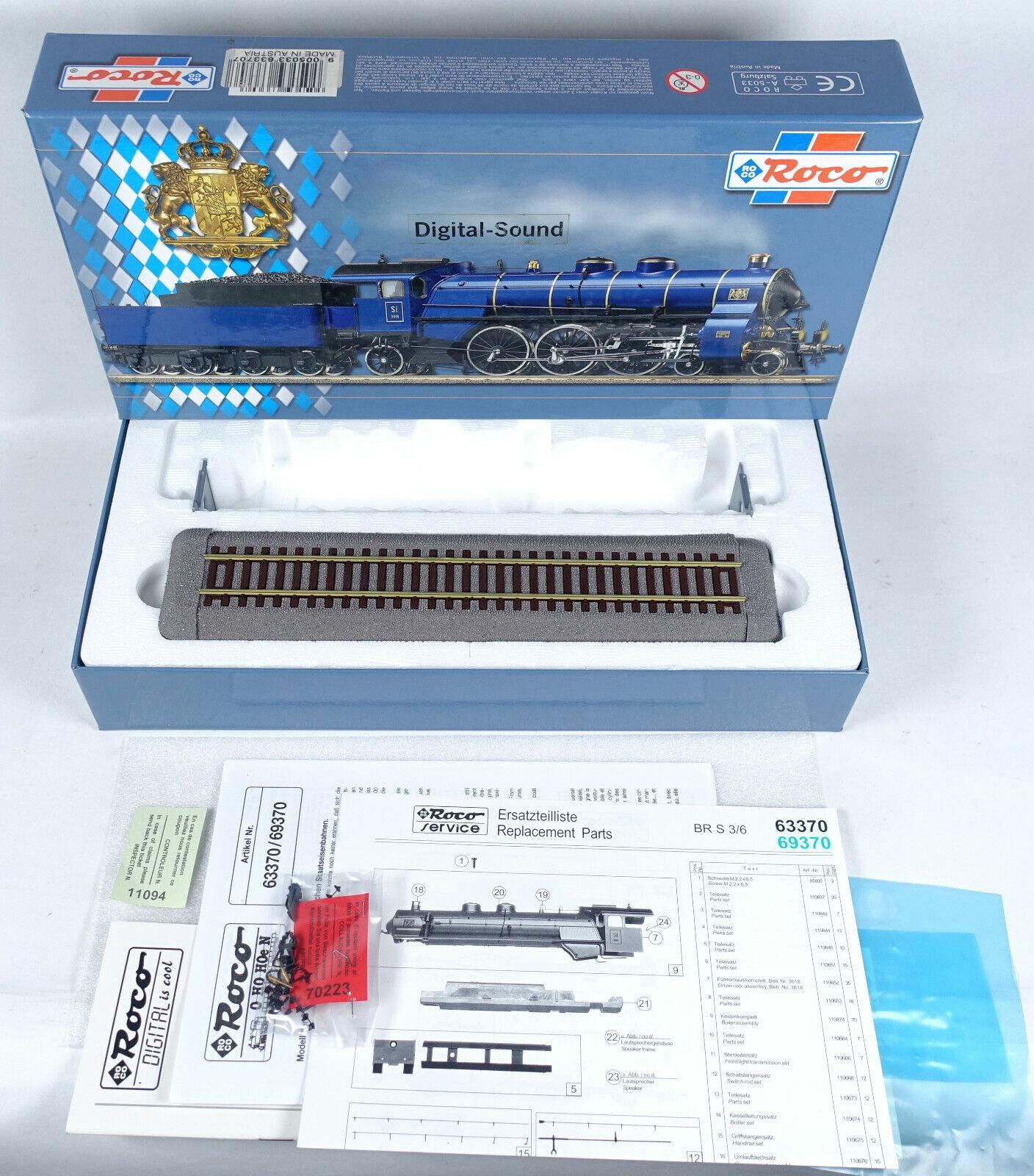 Roco Cochetón vacía 63370 máquina de vapor s 3 6 K. Bay. STB 3618 digital en blancoo de embalaje 69370