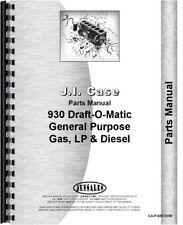 Case 930 Tractor Parts Manual Catalog Ck Comfort King Draft O Matic