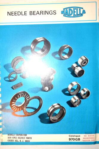 NADELLA London NEEDLE BEARINGS CATALOG 970GB RR730 bushing bearing pillow roller