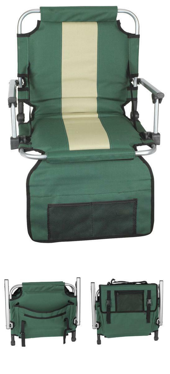 Portable Stadium Chair  Football Tailgating Seat Green Padded Folding Bleacher US  order now enjoy big discount
