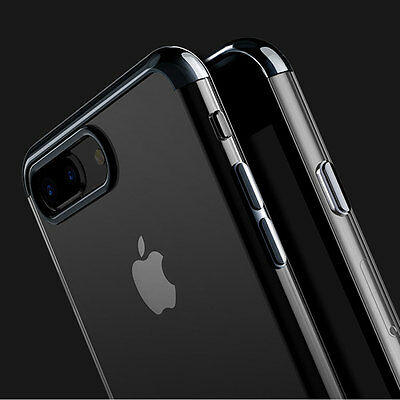 Ultra Thin Glossy Clear Shockproof Hard Bumper Cover Case For iPhone 7 7 Plus