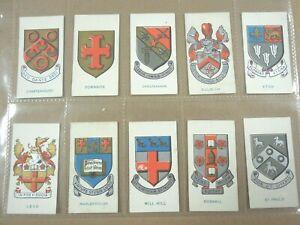 1930-SCHOOL-BADGES-Godfrey-Phillips-Comp-Tobacco-Card-Set-25-cards