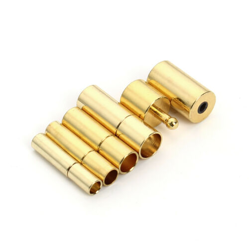 3 Colors Copper Clasps For Leather Cord Rope Bracelet End Cap DIY jewelry Making