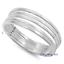 Sterling-Silver-925-PRETTY-MULTI-BAND-IN-ONE-DESIGN-SILVER-RING-7MM-SIZES-5-10 thumbnail 4