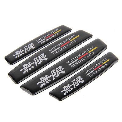 4pcs Honda Mugen Car Door Edge Fender Protect guard Anti Scratch Emblem Sticker
