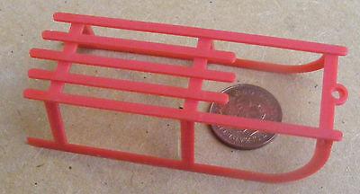1:12 Scala Grande Plastica Rossa Slitta Slittino Casa Delle Bambole Accessorio Vivaio Giocattolo-mostra Il Titolo Originale Elegante Nell'Odore