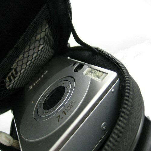 Ex-Pro® Silver Hard Clam Camera Case for Nikon Coolpix L24 P3 P4 S1 S2