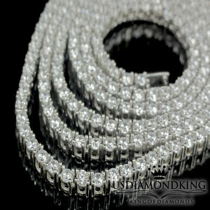 MENS-WOMENS-1-ROW-THIN-2-5-MM-REAL-STERLING-SILVER-TENNIS-NECKLACE-CHAIN-24-034-34g