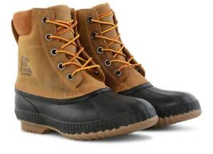 1750241-224) MEN S SOREL CHEYENNE II BOOTS- CHIPMUNK BLACK  NEW   a9942d110ab72