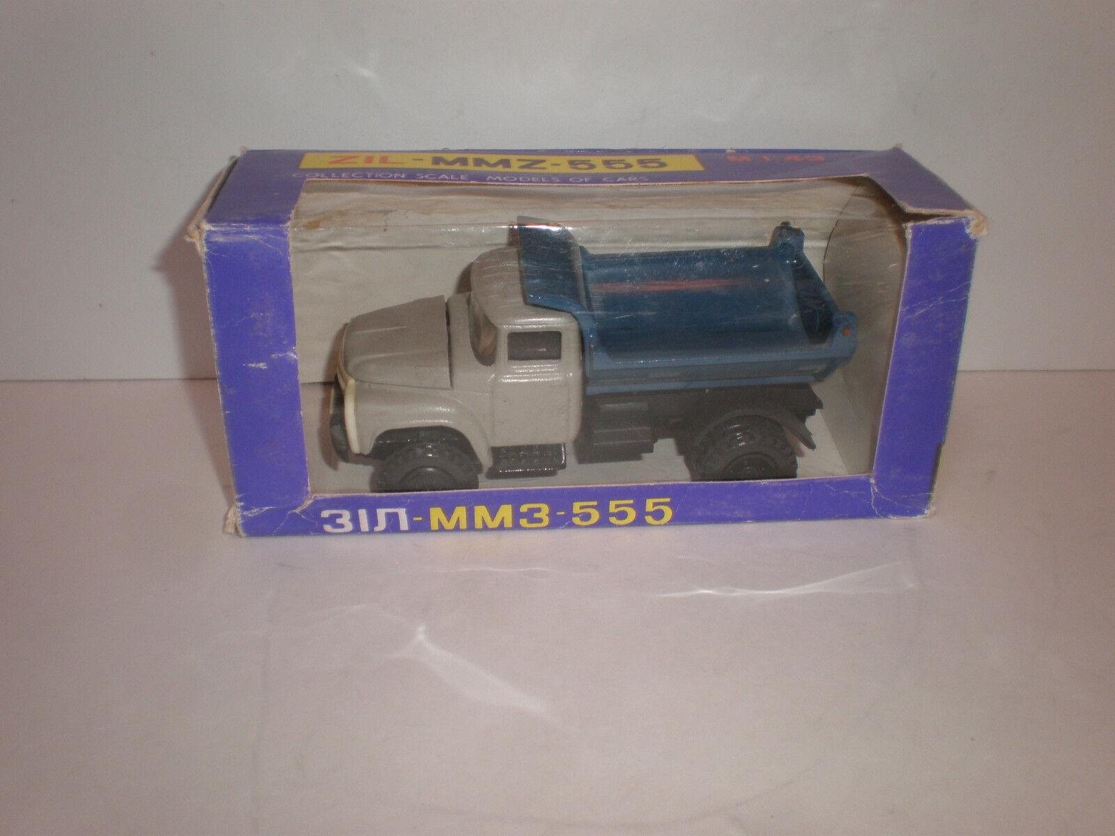 1 43 Rusia camión ZIL mmz 555 USSR CCCP Diecast Modelo