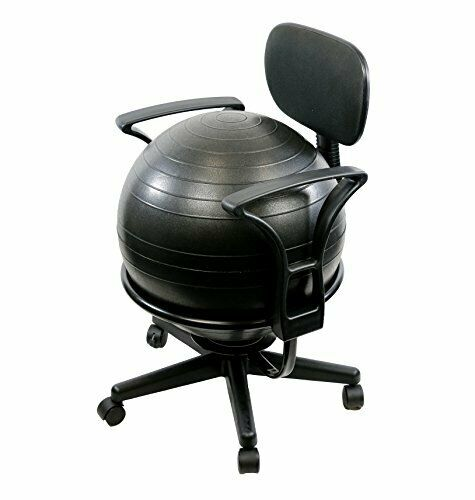 Office Metal Ball Chair W Arms Strengthens Your Core Burn Calories 22