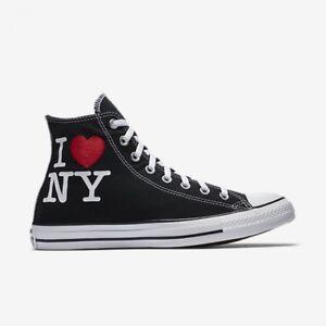 16abc86d815f Converse Chuck Taylor All Star I Love NY Black Red High Top 161183F ...