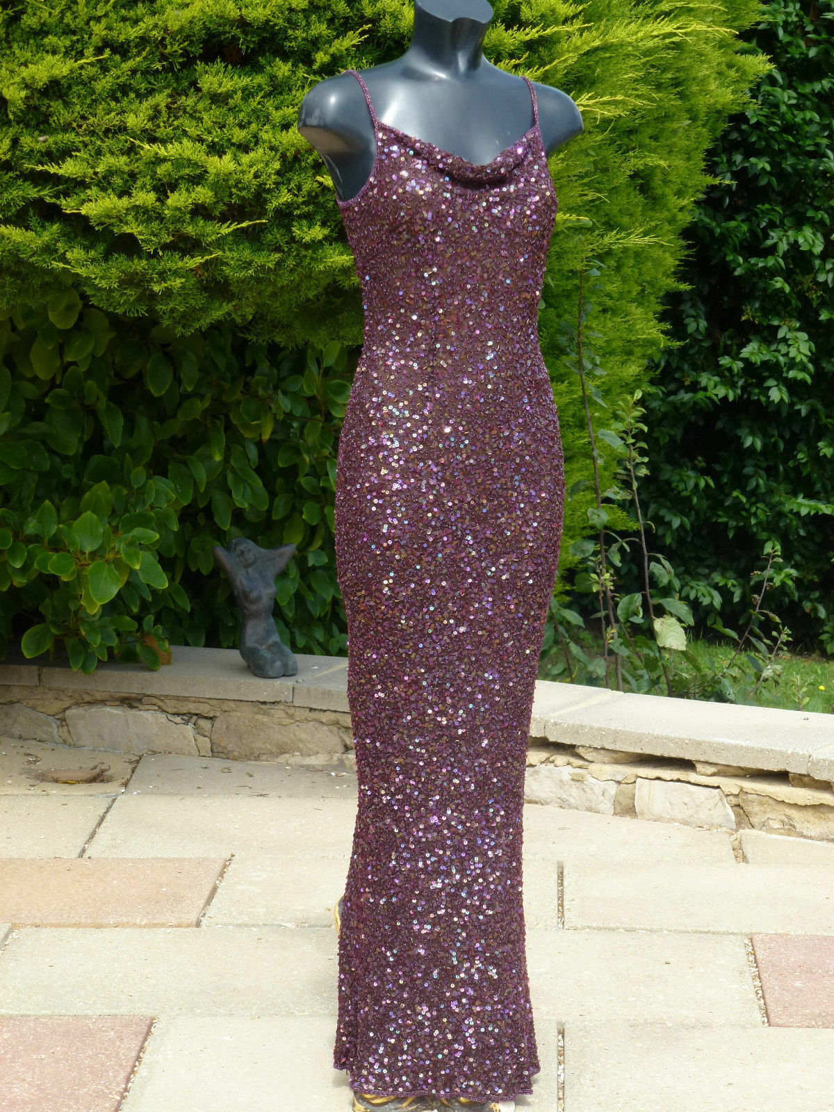 Monsoon Brown Sequin Beaded Maxi Dress 12 Wedding PROM Ball Cruise  BNWT