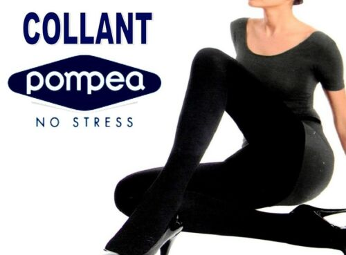 LEGGINS LEGGINGS COLLANT DONNA NERO COPRENTE NO STRESS INVERNALE POMPEA OFFERTA