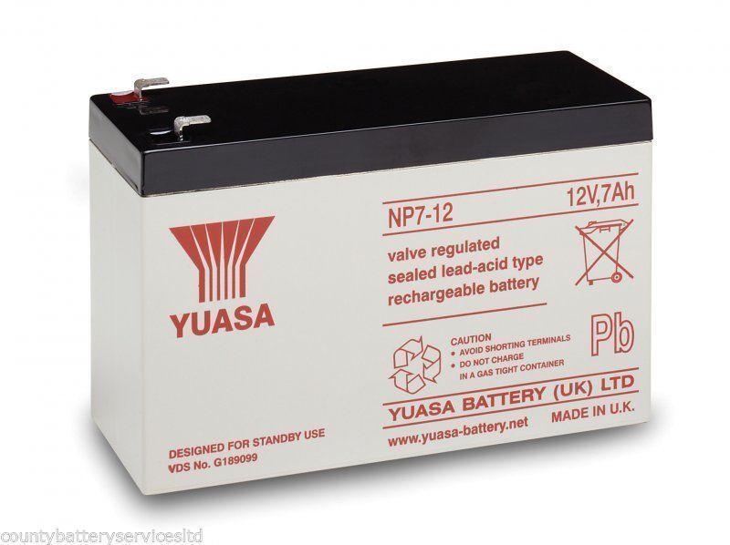 Paquet de 2   Yuasa 12V 7Ah Appât Bateau Batterie   Wavecourirner, Viper, Lakestar