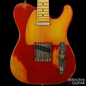 Nouveau PALIR TITAN Classic relique STYLE TELE guitare Candy Apple Red LOLLAR pickups