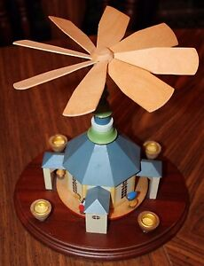 Carved Wooden Handmade Christmas Candle Holder Dome House ...
