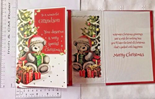 Grandson /& Partner Christmas Cards Grandson /& Wife Single Grandson