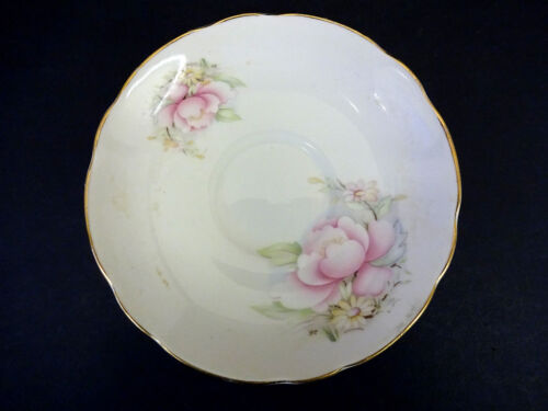 Rosa Fiore Decorazione Royal Stuart BONE CHINA PIATTINO Dia 14cm