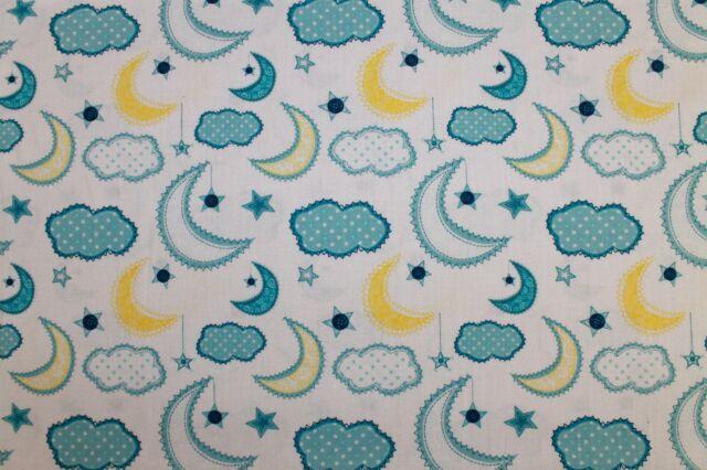 """Baumwollstoff """"Dream a little Dream"""" Mond - weiß - Camelot Fabrics"""