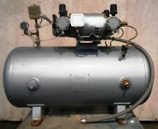 Gast 60 Gallon Compressed Air And Vacuum System 7hdd 10 M853 7hdd 69dtd M702