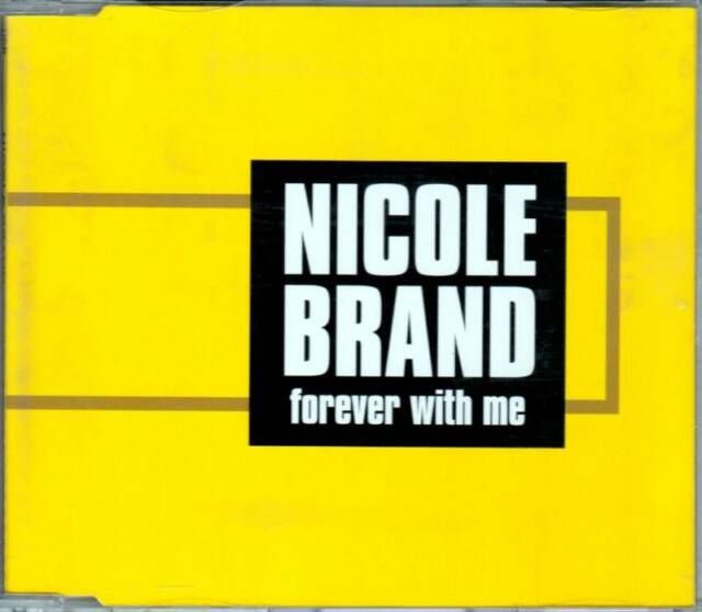 """NICOLE BRAND """"Forever with me"""" CD SINGOLO NEW  UDP 2002"""