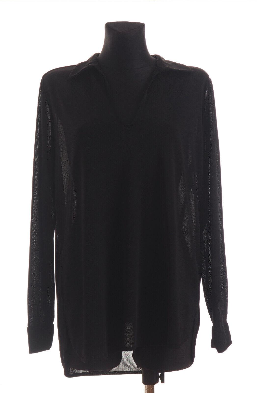 FILIPPA K  Woherren schwarz long sleeved Sheer Shirt Top Größe L  RRP€ 129,95