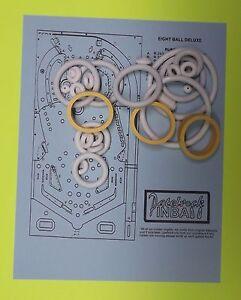 Bally Eight Ball Deluxe pinball rubber ring kit