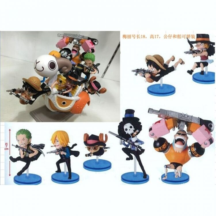 ONE PIECE STRONG WORLD FULL SET ACTION FIGURE RUFY ZORO CHOPPER SANJI FRANKIE  1