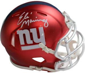 f477d8d461f Eli Manning signed New York Giants Riddell Blaze Speed Mini Helmet ...