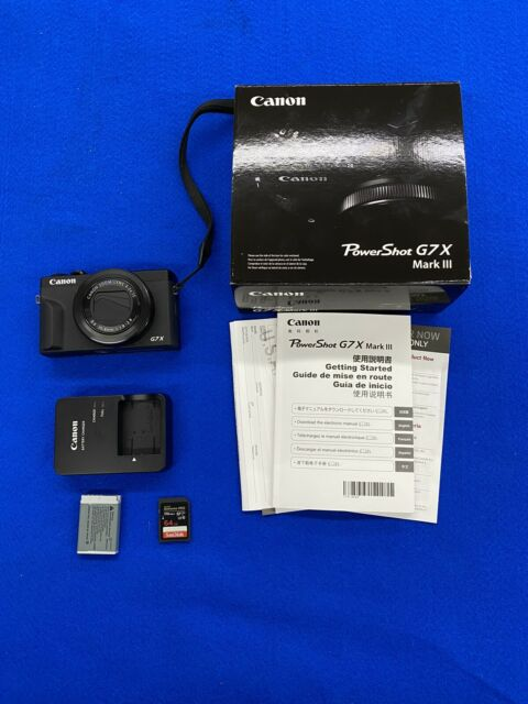 Canon PowerShot G7 X Mark III Digital Camera - Black 4k Refurbished w/ 64gb sd