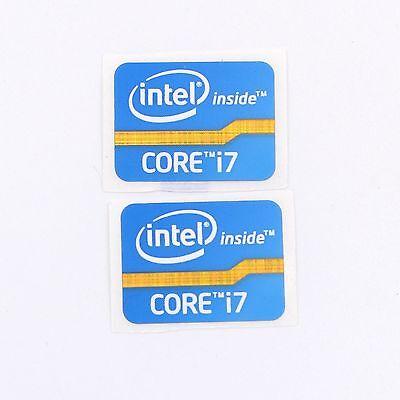 10 Pcs Intel Core i7 vPro Sticker 16mm x 21mm 2011 Laptop Version