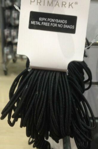 Ponybands 60pk Metal Free BNWT Black or Mixed colours set