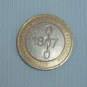 Gb Elizabeth Ii. £ 2 Lb (environ 0.91 Kg) 2007 Abolition Du Commerce Des Esclaves 1807. Coin Chasse-afficher Le Titre D'origine G5ky3lee-07232308-800063517