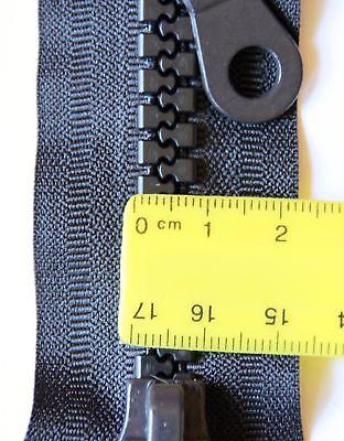 2 Wege Reissverschluß Kunststoff teilbar stabile Krampe 6mm von 40 cm bis 1m