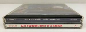 Lot of 2 Black Sabbath / Ozzy Osbourne CD's ~ Dehumanizer, Diary of a Madman
