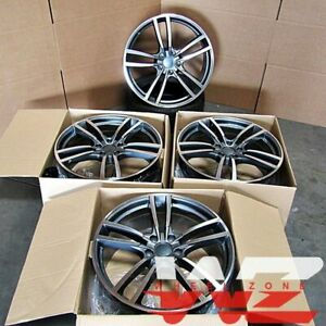 22 Inch Wheels Fits Porsche Cayenne S GTS Touareg Audi Q7 22x10 5x130 Rims Set 4