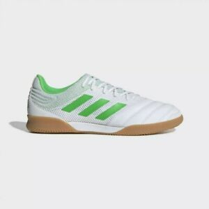 Adidas-Copa-19-3-Indoor-Sala-white-green-Indoor-Soccer-Shoes-BC0559-US-Men-039-s-12
