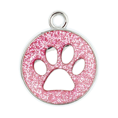 10 Colors jewelry Dog Paw Print Clip Dangle Hang pendant Charm For Keyring HC459