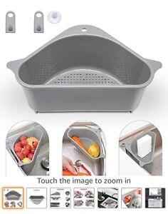 Triangle Colander Strainer Basket Fruit Vegetables Draining Kitchen Sink Rack US