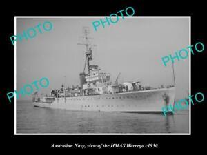 OLD-8x6-HISTORIC-PHOTO-OF-AUSTRALIAN-NAVY-SHIP-HMAS-WARREGO-c1950