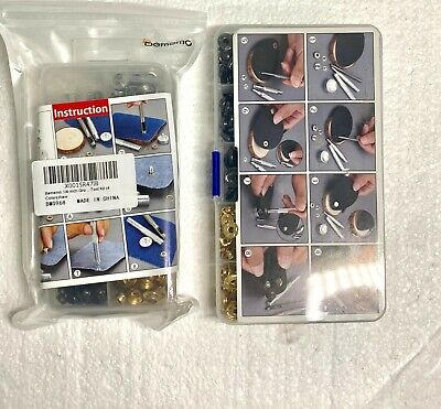 Bememo 1//4 Inch Grommet Kit 100 Sets Grommets Eyelets with 3 Pieces Install Tool