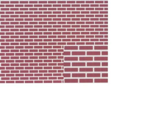 Dollhouse Miniatures 1:12 Scale Brick 12X16 #FF60670 Red On White
