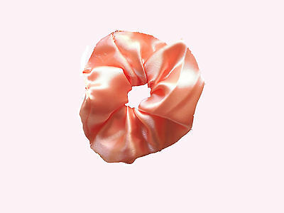 Hair Scrunchie,Handmade Satin & Fabric Colored Elasticated-Band Loop Tie-Choice